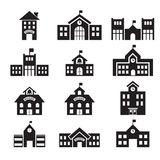 School building icon Stock Images