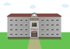 School building illustration Royalty Free Stock Image