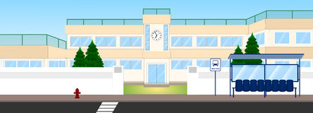 School building. An illustration japanese school building done by  software Royalty Free Stock Image