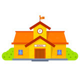 School building illustration Stock Images
