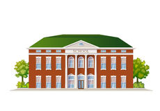 School Building Illustration Royalty Free Stock Images