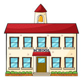 A school building. Illustration of a school building on a white  background Royalty Free Stock Photography