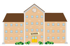 School building. Illustration on white background Royalty Free Stock Photos