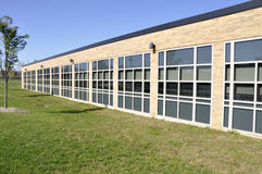 School building with many windows Royalty Free Stock Photo