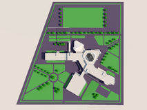 School building master plan Stock Image