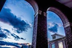 School building - North America historic brick school architecture royalty free stock photo
