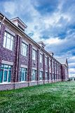 School building - North America historic brick school architecture Royalty Free Stock Photography