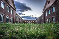 School building - North America historic brick school architecture stock images