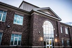 School building - North America historic brick school architecture royalty free stock photos
