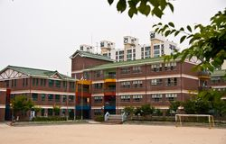 School building in South Korea stock photos