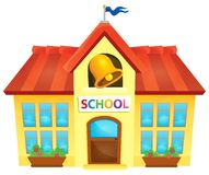 School building theme image 1 Stock Image