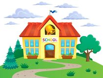 School building theme image 2 Royalty Free Stock Photography