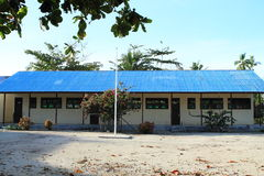 School building. In touristic village Arborek (Raja Ampat, Papua Barat, Indonesia Stock Images