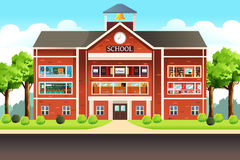 School Building. A vector illustration of school building Stock Images
