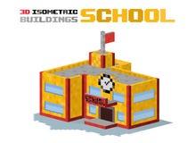 School building vector illustration Stock Photos