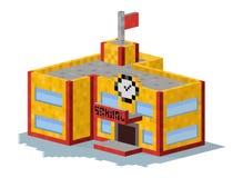 School building vector illustration Royalty Free Stock Photography