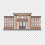 School building vector illustration. Realistic school building vector illustration on checked background Royalty Free Stock Photo