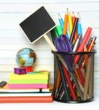 School-bureau kantoorbehoeften Stock Afbeeldingen