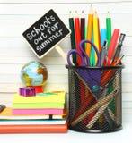 School-bureau kantoorbehoeften Stock Foto's