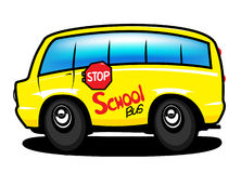 School bus. Cartoon school bus for illustration Royalty Free Stock Images