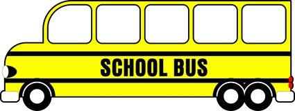 School Bus. A Simple 6 Wheel School Bus Royalty Free Stock Images