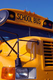 School bus. Close-up of the front of a school bus stock photos