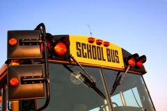 School Bus. The front of a school bus stock images