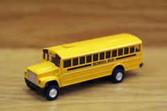 School Bus. A toy yellow school bus Stock Photo