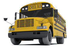 School bus. Single yellow school bus isolated on white background Royalty Free Stock Photography