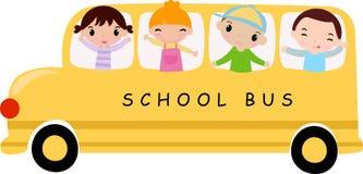 School bus. And children -Illustration art Stock Image