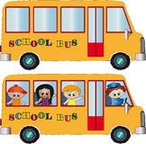 School bus. Illustration of school bus isolated Royalty Free Stock Photos