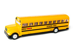 School bus. A school bus isolated on white Stock Photo