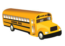 School Bus. On the white background Royalty Free Stock Images