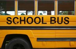 School bus. Side view yellow school bus Stock Photos