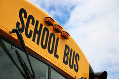 School Bus. Close up of school bus Stock Photos