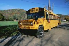 School bus. In rural setting Stock Image