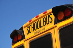 School Bus. With Blue Sky Stock Image