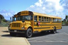 School bus. Parked in Kauai, Hawaii Stock Photography