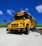 School Bus. On a sunny day - detailed front of a Royalty Free Stock Photos