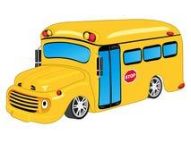 School bus. Colored cartoon school bus illustration as Stock Photo