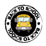 School bus. Icon over white  background vector illustration Stock Photos