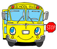 School bus. Hand drawn cartoon school bus Stock Images