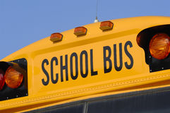 School Bus. Close up of school bus Stock Image