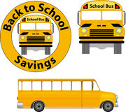 School Bus. Add the front or side view of a school bus to your promotions or publications Stock Images