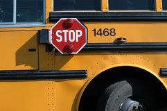 School Bus. Close-up of portion of school bus Royalty Free Stock Photography