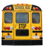 School Bus Back. Isolation of Back of bright yellow School Bus Stock Image