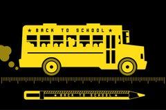 School bus back to school Stock Photo