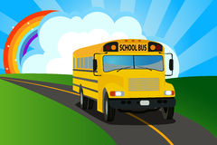 School bus background Stock Photography