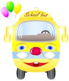 School bus with balloons Royalty Free Stock Photo