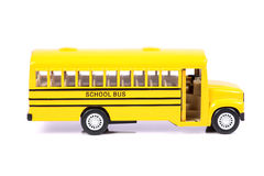School bus. Beautiful shot of yellow colored school bus on white background stock images